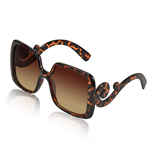 Designer Sunglasses for Women Shades Prada Sun Glasses Huge Square Men ()