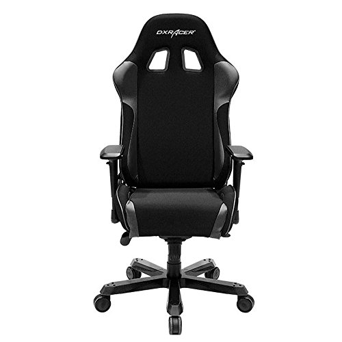 DXRacer King Series Big and Tall Chair DOH/KS11/N Office Chair Gaming Chair Ergonomic Computer Chair eSports Desk Chair Executive Chair Furniture with Free Cushions (Black)