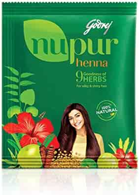 Godrej Nupur Henna Natural Mehndi for Hair Color with Goodness of 9 Herbs, 400gm
