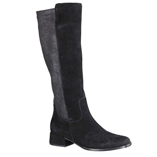 Gabor 55877–17–Zapatos Moda Mujer Botas, Negro, piel/sintéticos (terciopelo/Coat el/Micro), absatzhöhe: 35mm negro