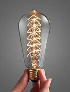 YH 40 W Bulb E27 Large Spiral Mouth Decorated Incandescent Lamp The Christmas Tree Light , 220-240v
