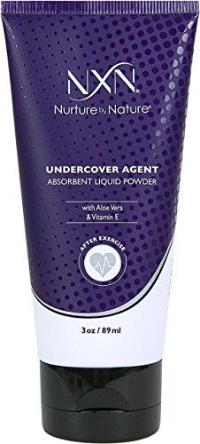 - NxN Undercover Agent Liquid Powder Anti-Sweat Absorbent Body Cream Natural Formula with Aloe & Vitamin E, 3 Oz