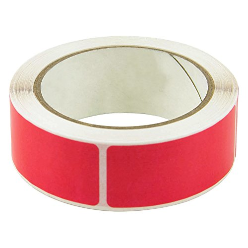 Red - Color Mist Heavy Duty Label Protectors - 1-1/4
