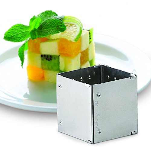 HIC Adjustable Square-to-Rectangle Food Ring, Makes 10 Configurations, Stainless Steel by HIC Harold Import Co.