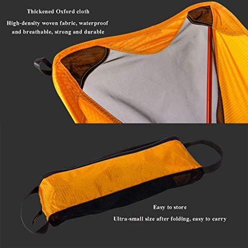 Portable Camping Chaise Pliante BBQ Chaise Aviation Aluminium Matériel Respirant Confortable Parfait pour en Plein Air Plage Randonnée Pique-Nique Jaune Lili