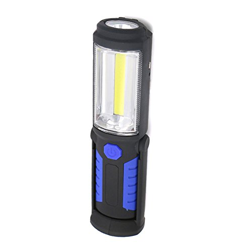 - Portable Multi-Function COB+LED Rechargeable Light Magnet with Hook Folding Torch Lamp #22(Blue)