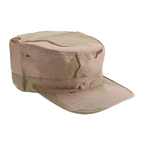 Mens Camouflage Hat Army Ranger Ripstop Patrol Fatigue Cap Combat Hats (Desert Camo) Camouflage Ripstop Army Fatigue Cap