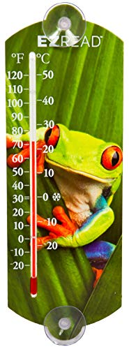 Headwind Consumer Products 840-0047 EZREAD Indoor/Outdoor Thermometer with Frog, - Thermometer Frog