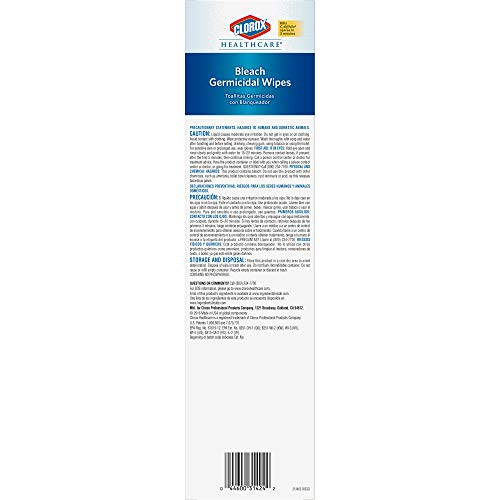 Clorox Healthcare Bleach Germicidal Wipes 50 Count Individual Wipes