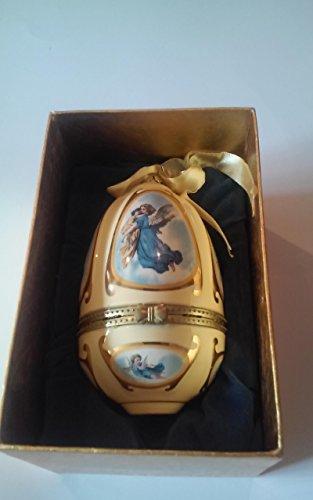 Musical Christmas Egg - Mr Christmas Porcelain Musical Ornament Egg Music Box