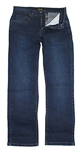 (Urban Star Men's Relaxed Fit Straight Leg Jeans (34 x 30, Dark Blue))