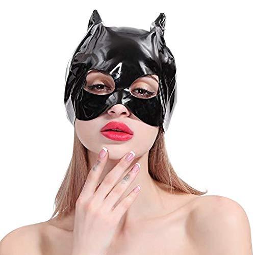 LHhappyshop Cat Animal Leather Mask Halloween Costume Cosplay