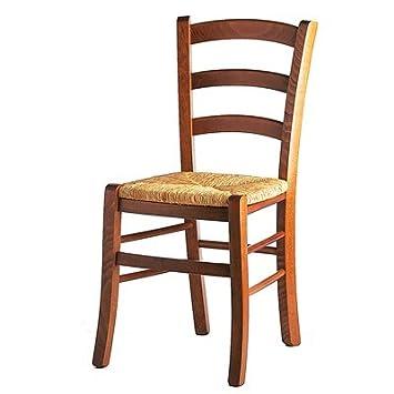 sediarreda ensemble de 4 chaises rustiques tente noyer et sige en paille - Chaise Rustique
