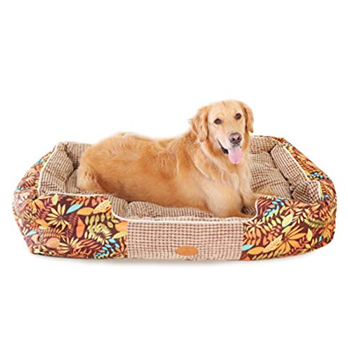 ALXDR Dog Bed For Medium Small Large Dogs, PP Cotton Filling Suede Surface Pet Bed Keep Warm In Winter,Bohemia,XL