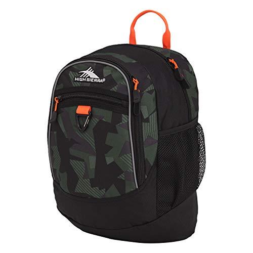 High Sierra Fatboy Mini School Backpack, Shattered Camo/Black/Electric Orange