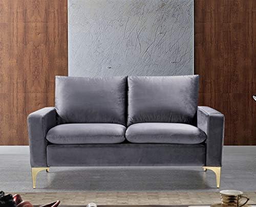 US Pride Furniture Contemporary Velvet Upholstered Loveseat Love Seat