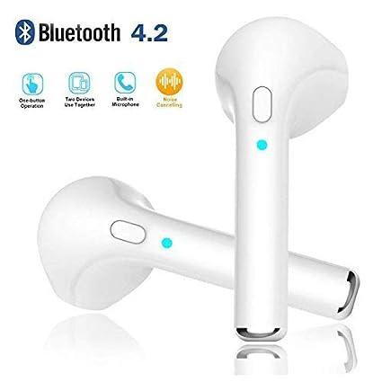 Auriculares Inalámbricos Bluetooth v4.2 Auriculares Intrauditivos Sin Cable Stereo con Caja de Carga Portátil