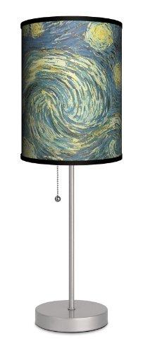 "Art - Vincent van Gogh ""Starry Night"" Sport Silver Lamp"