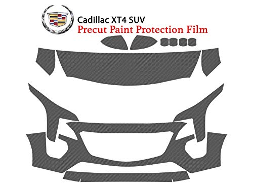 (The Online Liquidator Precut Clear Bra Paint Protection Film Kit fits Cadillac XT4 SUV 2019 - Premium Full Front Vinyl Wrap Surface Safeguard Cover)