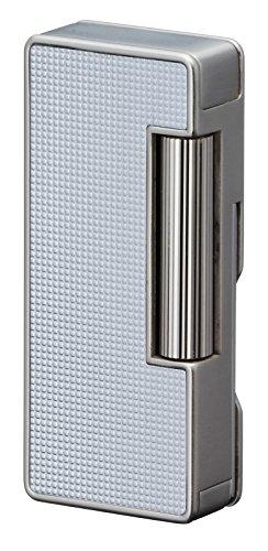 Sarome PSD37-03 Flint Pipe Lighter w/pipe tools / Silver lattice alumite