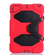 IIYBC Brand for Apple Ipad Mini 1&2&3 Defender Shockproof Survivor Military Duty Hybrid Hard Case with Soft Silicone (red)