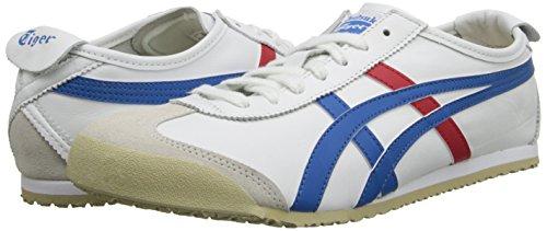 Unisex blue Ginnastica red white Basse Da 66 Scarpe Sneakers 0146 adulto Multicolore Asics Mexico 4qPw0xA