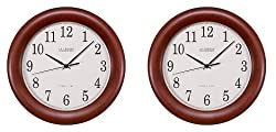 "La Crosse Technology Walnut Atomic Wall Clock,12.5"""