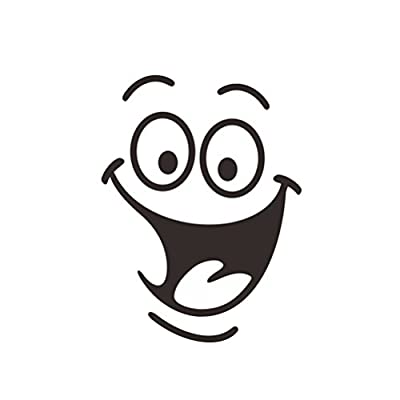 WINOMO Smiley Face Closestool Sticker Removable Waterproof Wall Decals for Bathroom
