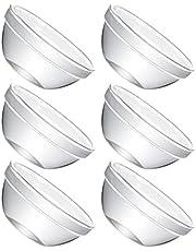 BESTonZON 6 sztuk mini szklanek Prep Dessert Miski Szklane Ramekiny Miski Szklane Miseczki do dip Przezroczysty kubek na sosy Candy Potrawy do keczupu Masło S