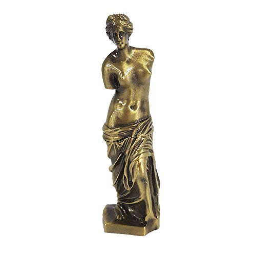 PROW Venus De Milo Statue, Goddess of Love Greek Roman Mythology Sculpture Figurine Handmade Craft Desktop Decoration Best Gifts, Bronze, 7.5 Inch]()