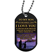 Meaningful Quote My Son Love Mother Jewelry/Necklace- How Special You Are To Me - Perfect Happy Birthday Gift On Birthday, Christmas Gloss Finish Decoration