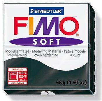 Black Fimo - FIMO Soft Modelling Clay 56g Block Black