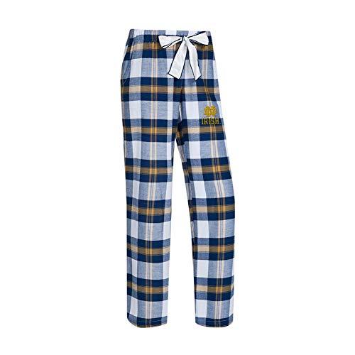 Concepts Sport Notre Dame Fighting Irish Women's Flannel Pajamas Plaid PJ Bottoms (Medium)
