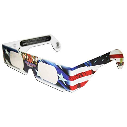Set of 12 Patriotic 3D Fireworks Glasses