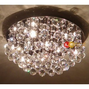 Amazon.com: Crystal Ceiling Lights living room bedroom pendant lights ...
