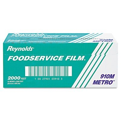 (REY910M Metro Light-Duty Film with Cutter Box, 12quot; x 2000 ft.)