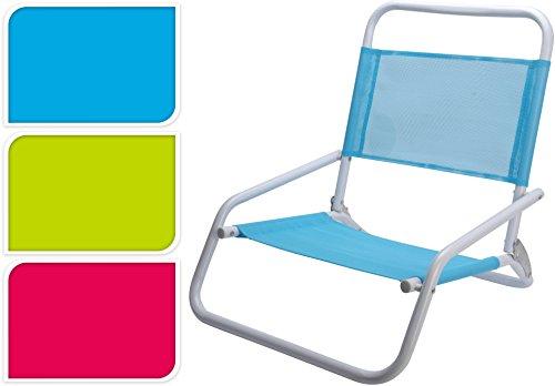 Strandstuhl Klappstuhl Liege in 3 Farben zur Auswahl zusammenklappbar