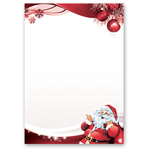 Sfondi Natalizi Su Cui Scrivere.Carta Da Lettera Decorati Natale Lettera A Babbo Natale 50 Fogli