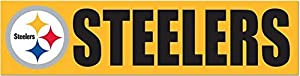 "NFL Pittsburgh Steelers 13376013 Bumper Strip, 3"" x 12"", Black at SteelerMania"