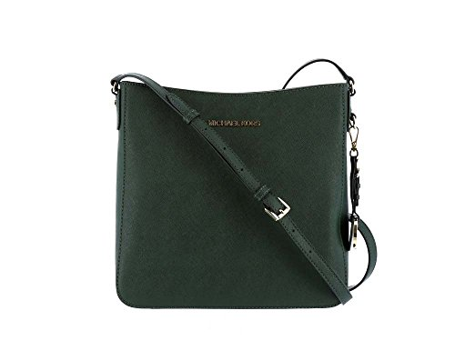 Jet Set Travel Large Saffiano Messenger Bag (Moss) ()