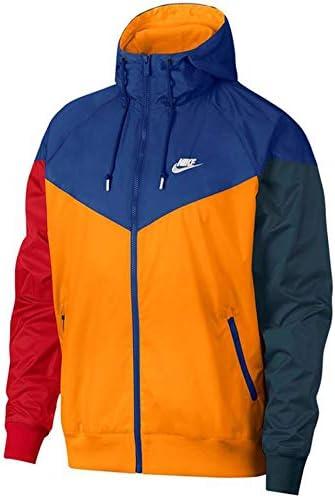 orange and blue nike windbreaker