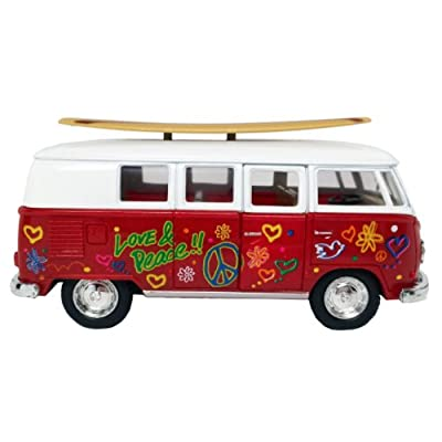 Schylling Die-Cast 62ft Vw Bus and Surfboard DCVS: Toys & Games