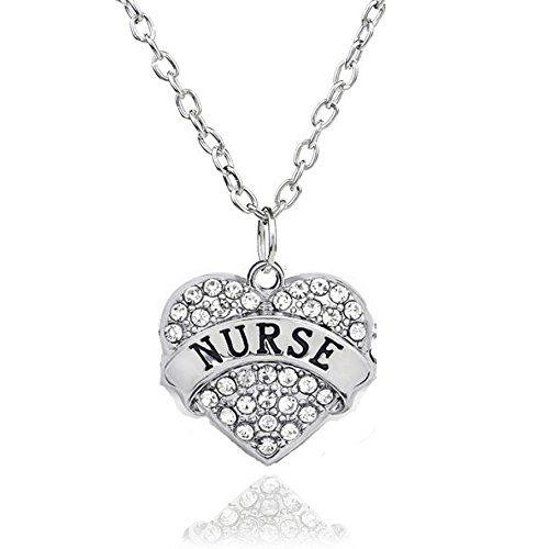 cklace | Adorable Nurse Heart Necklace| Best Hearts Necklace for Woman (Cute Button Necklace)