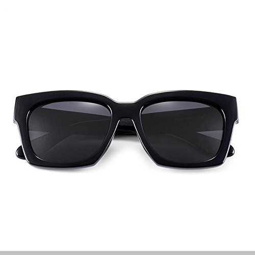 black box gray para UV400 Black sol Black Sunglasses Color hombre Protective WLHW Lens Estilo Shades de Unisex box Ladies black Black Gafas Wayfarer gray fqgB1B