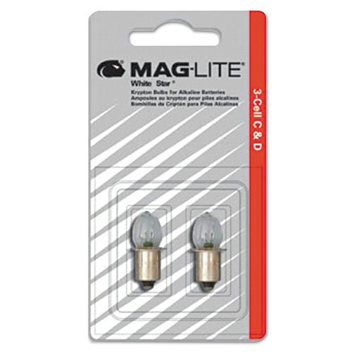 Maglite Replacement Lamps for 2-Cell AA Mini Flashlight, (Maglite Led Light)