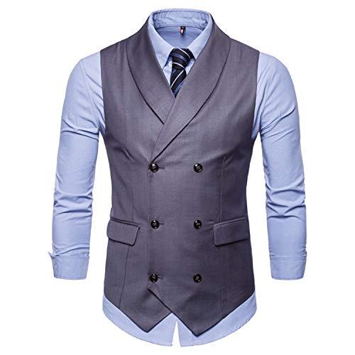 Mariage De Double À Colete Blue Pour Slim Comradesn Boutonnage Costume Gilet Robe Manches Gilets Vintage Sans Homme Homem Hommes WnqPg7