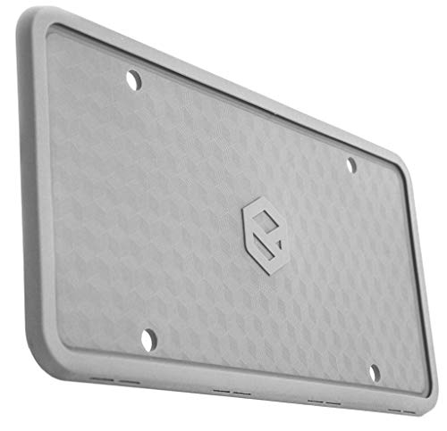 (Rightcar Solutions Flawless Silicone License Plate Frame - Rust-Proof. Rattle-Proof. Weather-Proof. - Grey)