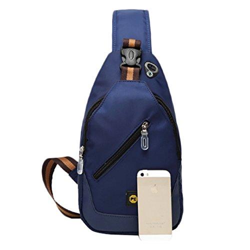 Wewod Viaje Moda L Deporte Oxford para 31 18 Mochila Pecho de la W Hombre de x 8 H Ocio de Azul cm del x Bolso Hombro rvq7wBrx