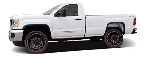 Painted Body Side Molding with Color Insert for GMC Sierra Regular Cab - 2 Inch Molding (2014-2016) - Switchblade Silver Metallic (WA636R) with Dark Maple Insert (Ci2 Replacement Blades compare prices)
