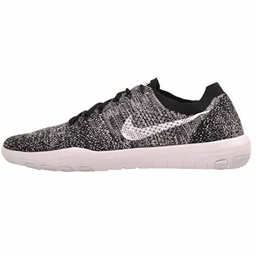 Nike Women's Free Focus Flyknit 2 Cross Training Shoe (7, Black/White) (Free Training Nike Women Cross)